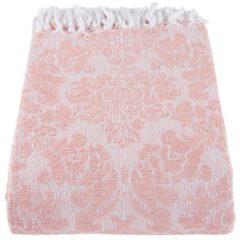 Clayre & Eef Plaid KT060.069P 130*150 cm - Roze 100% Katoen Deken Kleed Dekentje