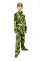 Donkergroene Rubies Rubie's Kostuum Soldaat Jongens Legergroen Maat 164