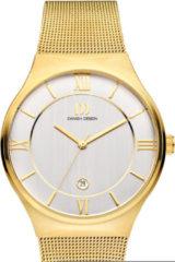 Gouden Danish Design watches edelstalen herenhorloge Kalsoy Gold Large IQ05Q1240