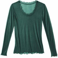 Enna Zijden shirt, smaragdgroen 40/42
