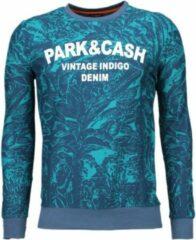 Black Number Park&Cash - Sweater - Groen Sweaters / Crewnecks Heren Sweater Maat XXL