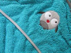 Plum Plum Babygoods Badcape beep, bob & lula in turquoise