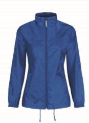 Bc Dames regenkleding - Sirocco windjas/regenjas in het blauw - volwassenen 2XL (44) kobalt