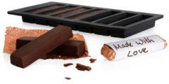 Boska Choco Reep DIY Set - Maak Je Eigen Chocoladerepen - Siliconen Mal - Zwart