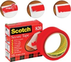 Rode Scotch SECURE TAPE 35MMX33M ROOD 3M (820RED)