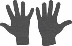 Antraciet-grijze Avento Handschoenen Gebreid Antislip Senior - Jaimy - Antraciet - L/XL