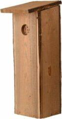 Bruine Best for Birds Houten vogelhuisje/nesthuisje 54 cm voor spechten - Vurenhouten vogelhuisjes tuindecoraties - Vogelnestje voor spechten