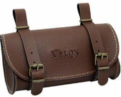 Velox zadeltas Vintage 0,6 liter skai leder 17cm donkerbruin