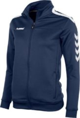 Marineblauwe Hummel Valencia Jacket Fz Ladies Sportjas Kinderen - Navy/White