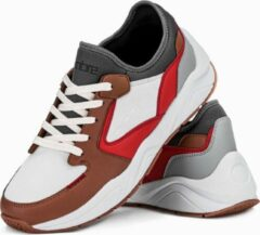 Witte Merkloos / Sans marque Sneakers - heren - laag - Camel - T363