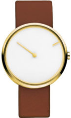 Bruine Jacob Jensen 254 horloge dames en heren - bruin - edelstaal doubl�