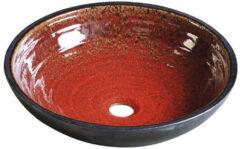 Sapho Attila keramische design waskom 42.5cm rood / zwart