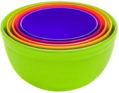 Groene Zak designs Zak!Designs Bistro Schalenset - Outside groen - Set van 5 stuks