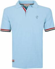 Blauwe Q1905 Polo shirt matchplay licht