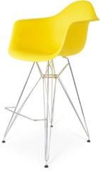 Gele Charles Eames DAR Barkruk Geel