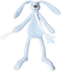 Blauwe Happy Horse - Konijn Reece Blauw - Knuffeldoekje
