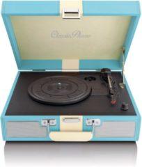 Classic phono Lenco TT-33 - Platenspeler Semi automatisch met twee ingebouwde speakers - Blauw