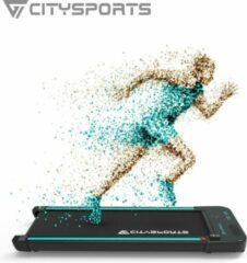 Zwarte Citysports Loopband WP2 | Inklapbaar | 440W | LCD-scherm | Meerdere Snelheidsstanden | Bluetooth