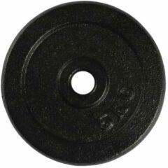 VirtuFit Gietijzeren Halterschijf - Halter gewicht - 30 mm - 5 kg - Zwart