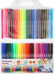 Kangaro 50x Gekleurde viltstiften in etui - Viltstiften voor kinderen - Kleuren - Knutselspullen - Creatief speelgoed