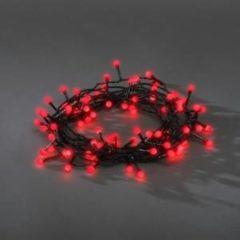 Konstsmide 3691-557 Micro-lichtketting Buiten Energielabel: A (A++ - E) werkt op het lichtnet 80 LED Rood Verlichte lengte: 10.82 m