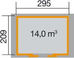 Blokhut Ronda 344 x 241cm antraciet/wit