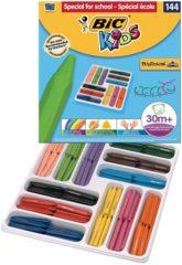 Bic Kids BIC - Kids Plastidecor Triangle waskrijtjes - 144 stuks - 30m+