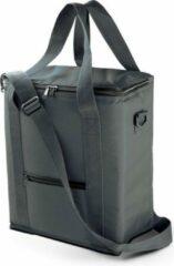 Kimood Hoge koeltas grijs voor flessen 30 x 36 cm - 18 liter - Koeltassen voor onderweg/op het strand