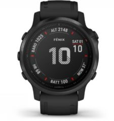 Garmin fenix 6S PRO Black w/Black Band (Glass) Smartwatch Zwart