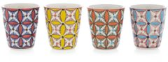 Oranje Pols Potten Cups - Drinkbekers - Colour hippy - Set 4 stuks