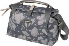 Donkerrode Basil Magnolia City Bag - Stuurtas - Fietstas - 7 l - Blackberry