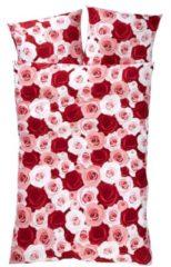 Bettwäsche Roses 2tlg. Webschatz rosa-rot