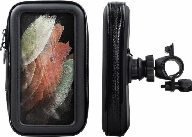 Afbeelding van Shop4 - Samsung Galaxy S21 Ultra Fietshouder Stuur Spatwaterdicht Zwart