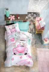 Roze Cotton Box - Ranforce Feeling love - Dekbedovertrekset (100% Katoen) -160X220 CM