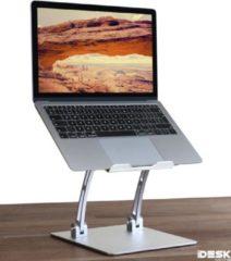 Zilveren IDeskmate - Robuuste Verstelbare Laptop standaard - Ergonomische Laptopstandaard op ooghoogte