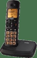Zwarte Fysic FX-5500 Big button Dect Telefoon | Knipperende display- en toetsverlichting bij inkomend gesprek | Zwart