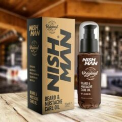 Nish Man- Beard & Mustache Care Oil- Baard en Snor verzorgende Olie