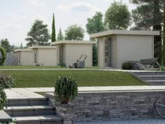 Weka tuinhuis Design 172 Gr.1 5,6m² rood
