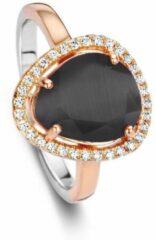 Roze Velini jewels-R6302BRG-52 -Ring -925 Zilver rosé- Gekleurde Cubic Zirkonia