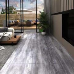 VidaXL Vloerplanken zelfklevend 5,02 m² 2 mm PVC mat houtgrijs