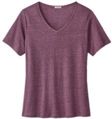 Enna Linnen T-shirt met V-hals, cassis 40/42