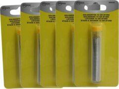 Merkloos / Sans marque 5x Soldeertin voor soldeerbout 15 gram - 3 meter - 1 mm dik - solderen elektronica / soldeeraccessoires