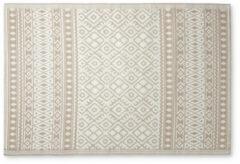 Xenos Buitenkleed ethnic - beige/wit - 120x180 cm
