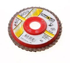 Klusgereedschapshop Flexovit Vlaklamellenschijf FI FLD FDSP diameter 110 x asgat 22mm P40