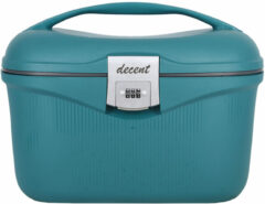 Groene Decent beautycase dark green