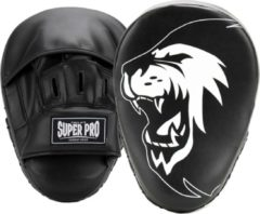 Super Pro Combat Gear Handpads Curved PU Zwart/Wit