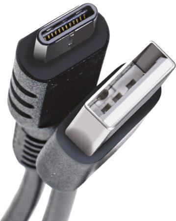 Afbeelding van Celly USB-C2M 2m USB A USB C Mannelijk Mannelijk Zwart USB-kabel