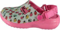 Xq Gardenwear Tuinklomp Meisjes Rubber Mintgroen/roze Mt 33/34