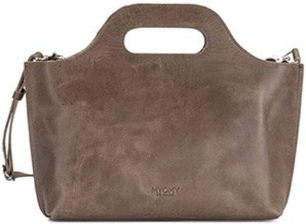 Afbeelding van Bruine MYOMY My Carry Bag Mini Dames Handtas - hunter taupe
