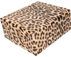 Bellatio Decorations Inpakpapier/cadeaupapier panter/luipaard print 200 x 70 cm rol - kadopapier / cadeaupapier